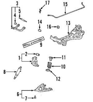 OEM 2004 Buick Rendezvous Rear Suspension Parts | GMPartsOnline