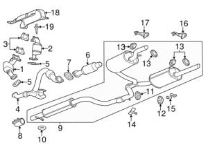 Catalytic Converter  GM (22740666)