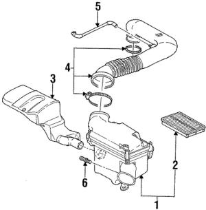 AIR INTAKE Parts for 2001 Saturn SC2