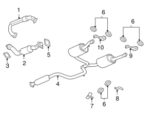 OEM EXHAUST COMPONENTS for 2008 Chevrolet Impala