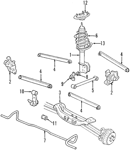 2002 Pontiac Sunfire Exhaust System Diagram