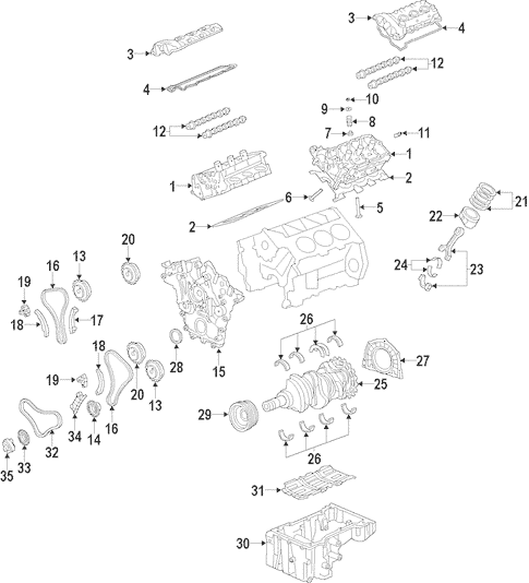 2009 Hyundai Santa Fe Parts Diagram
