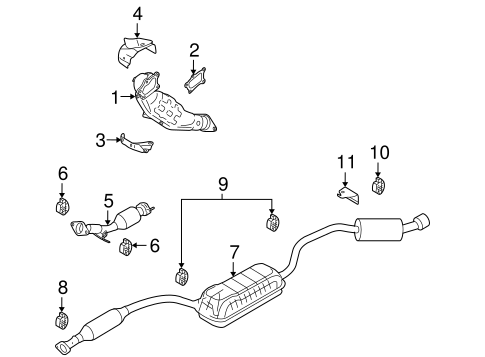 exhaust components for 2007 mazda 3