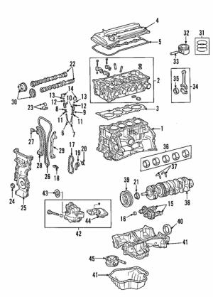 Genuine OEM Engine Parts for 2004 Toyota RAV4 Base