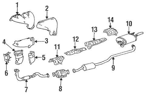 exhaust manifold for 1995 toyota