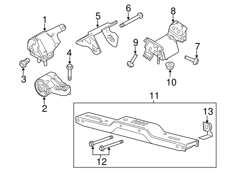 trans mounting for 2012 ford f 150