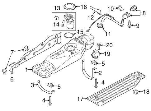 fuel system components for 2016 ford f