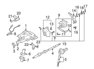 Steering Column Assembly for 2002 Toyota Tundra