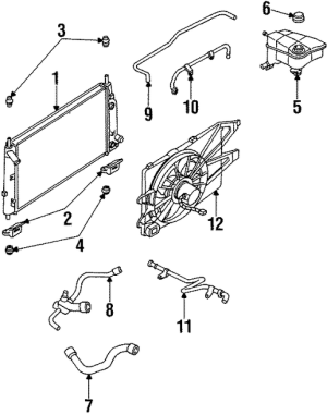 Radiator & Components for 1995 Ford Contour | Silver State