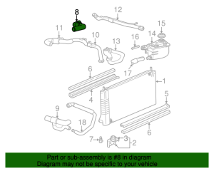 Upper Hose  Ford (1F1Z8A521BB) | Group 1 Auto Parts