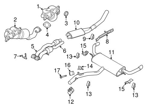 exhaust components for 2008 bmw x5