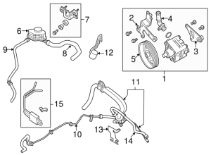 Genuine Nissan Maxima Power Steering Pump 49110ZX70A