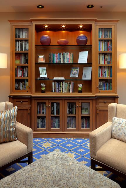 heathman hotel, portland, library