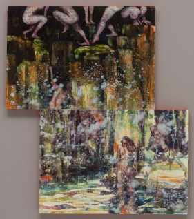 Orange Plunge oil on canvas 2016
