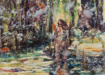 Orange Plunge (detail) oil on canvas 2016