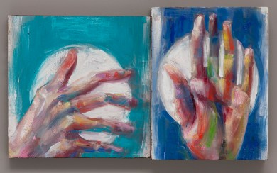 Turquoise Hand Blue Hand oil on canvas 2016