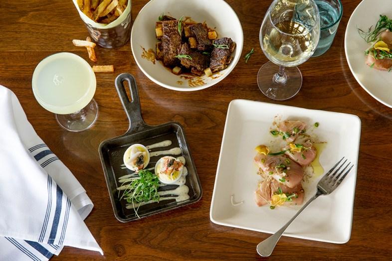 Three Degrees Bar & Grill - Table full of dishes