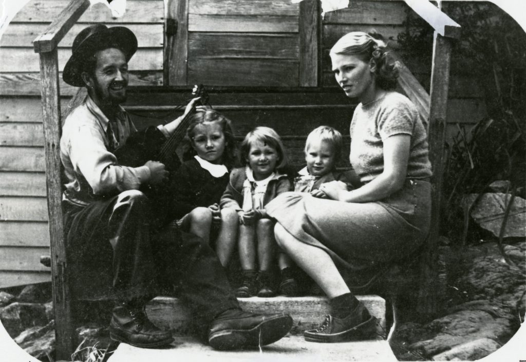 Woody Guthrie and his Family in 1941 (courtesy of the Woody Guthrie Museum)