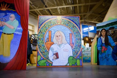 Another piece by Eona Skeltor of Mellie Pullman, the first women brewmaster in 1983.
