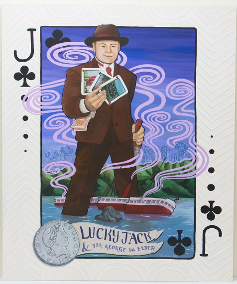 John ìLucky Jackî Peterson was a wealthy logging magnate from Portland who bought the ship SS George W. Elder after it ran aground at Kalama.