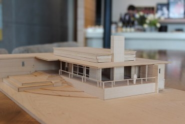 Architectural model of the new Ponzi tasting room