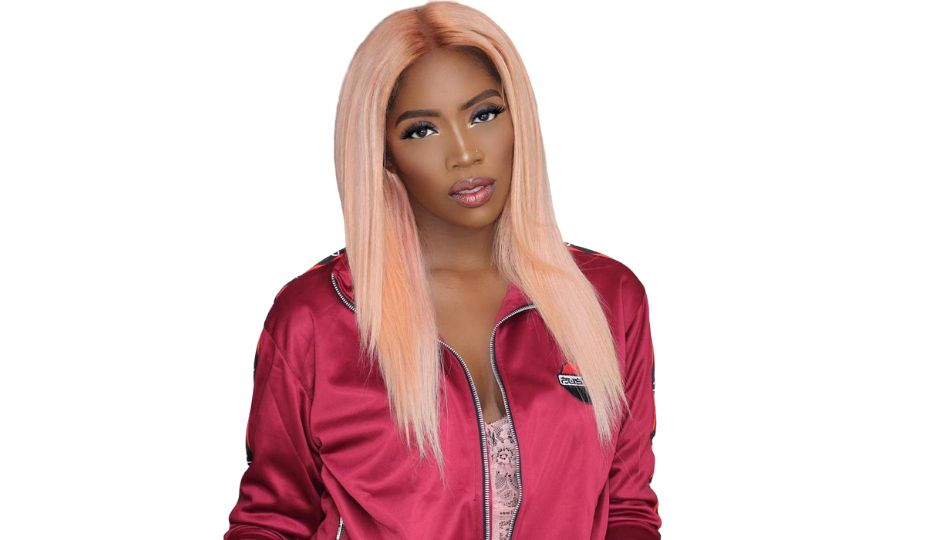Tiwa Savage Colored blonde and white hairstyle