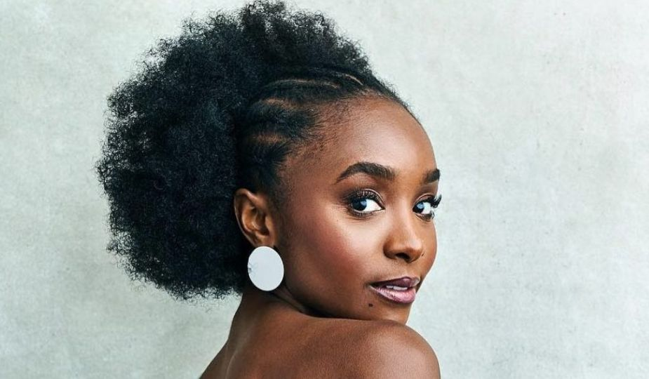 Idée coiffure : l'afro-nattes de Kiki Layne, actrice