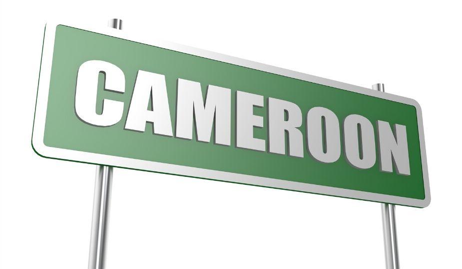 Cameroun - Cameroon - Ongola Ewondo - Yaoundé map carte panneau