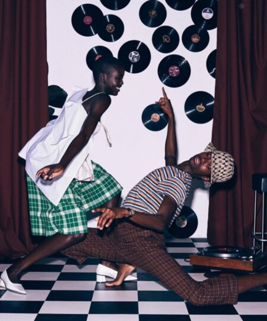 Adut Akech et Alton Mason pour Vogue Australia