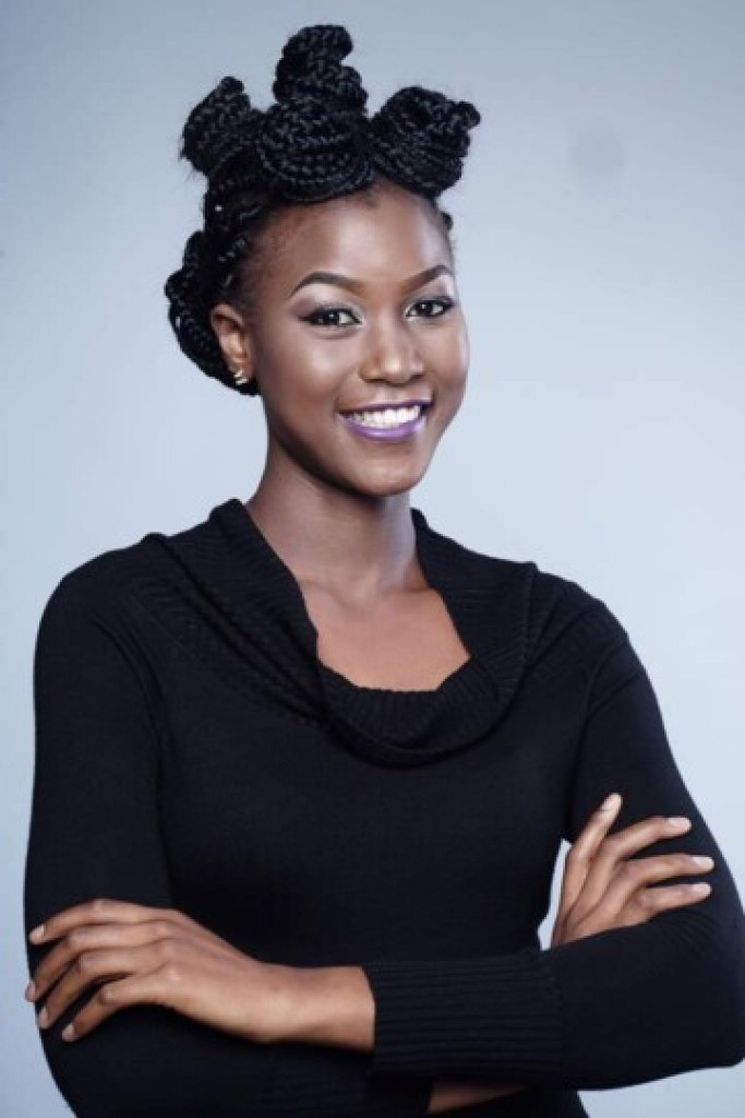 Miss Cameroun 2020 Audrey Nabila Monkam en nattes africaines
