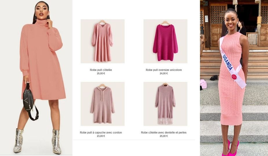 Shopping Style : Comment porter la robe pull rose