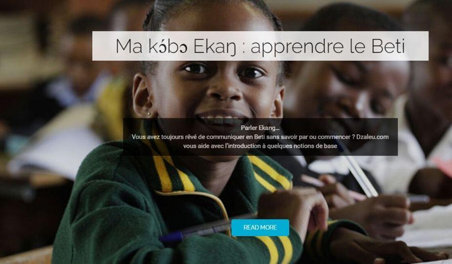 Apprentissage de l'Ekang : lire Ewondo en ligne sur Dzaleu.com