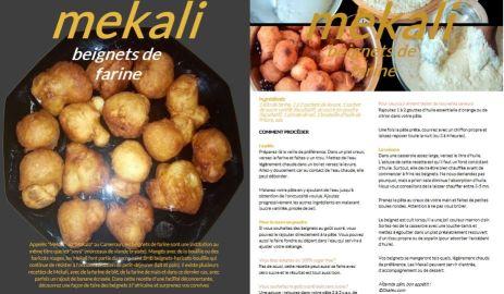 "Recette de ""Mekali"" (Cameroun), les beignets de farine"