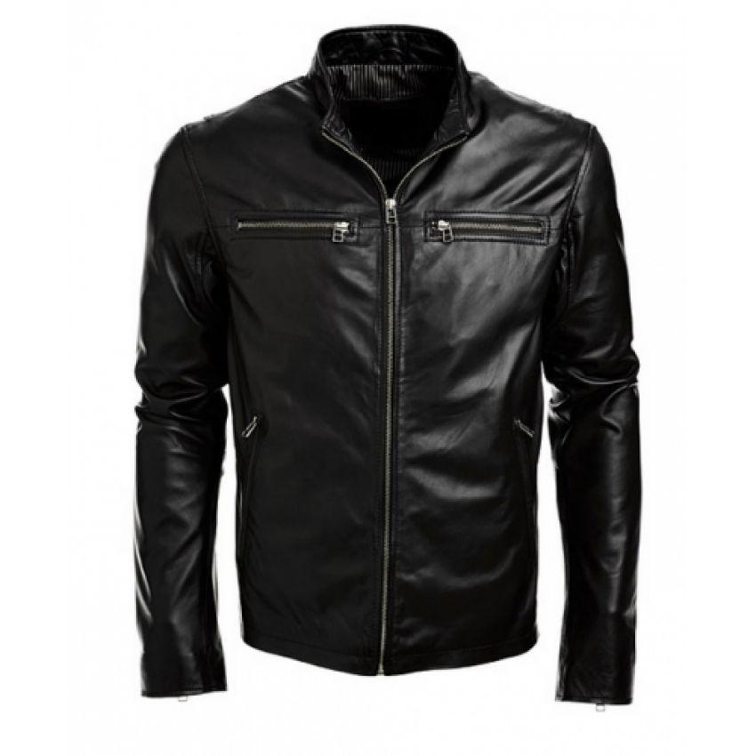 Mens Biker Jacket Black Real Leather Jacket On Storenvy