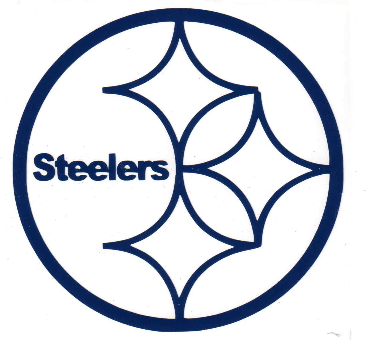 steelers decal blue exterior mount auto window bumper anywhere nr