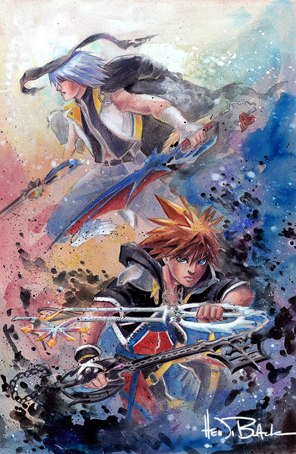 kingdom hearts poster print sold by