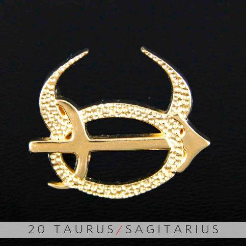 20 Taurus And Sagittarius Gold Unity Pendant On Storenvy
