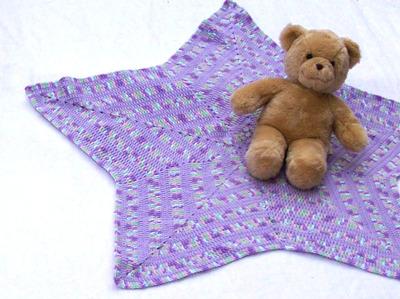 Superstar Lavender Baby Blanket