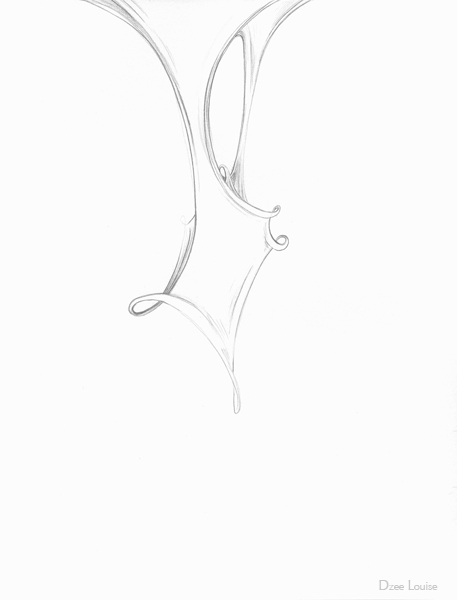 Entanglement 11 - graphite on paper - 8 x 10,5 inches