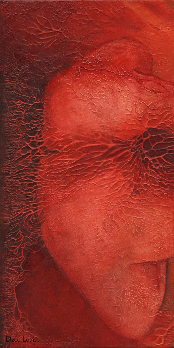 Stretch 1 (Ground) - acrylic on canvas - 12 x 48 inches