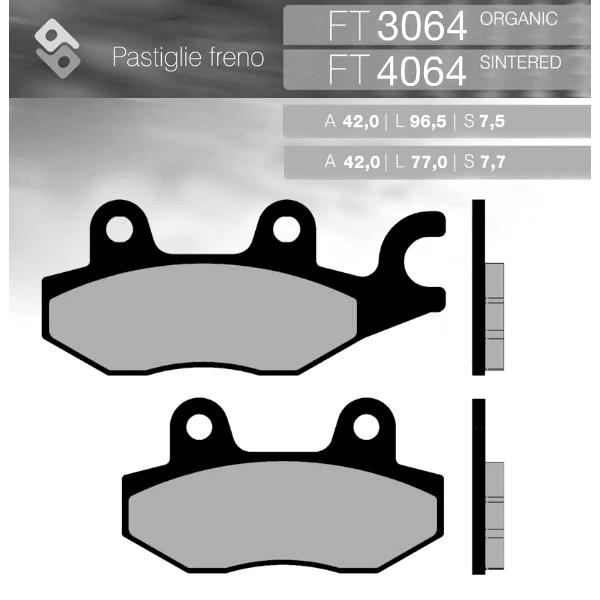 Колодки тормозные BRENTA FT3064 органические