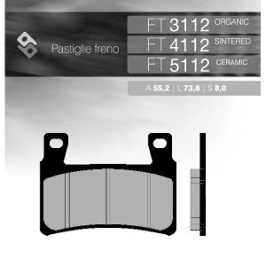 Колодки тормозные BRENTA FT4112 синтетические