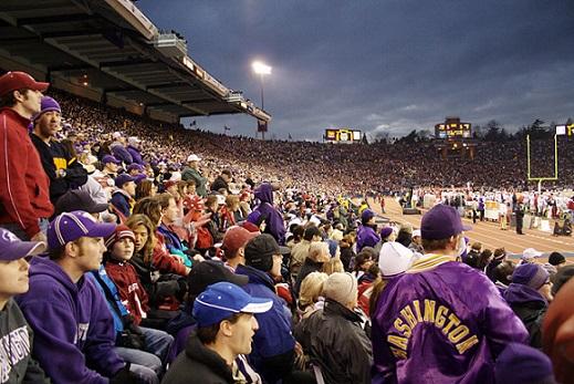 People on a stadium