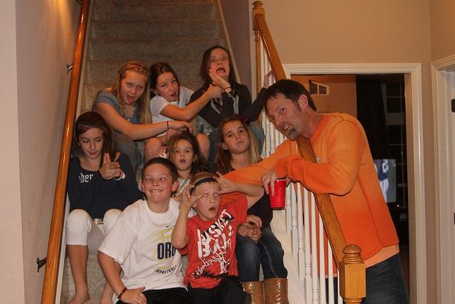 crazy kids at Thanksgiving