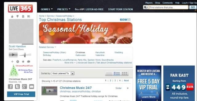 Live365 Christmas Radio Stations