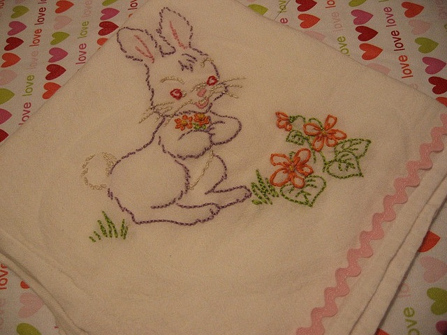 bunny bread towel