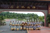 師生合照於佛陀紀念館