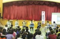 在瓜雪區佛學院同學與青年白象幹部分享佛學院的學習與生活及青年團的事務