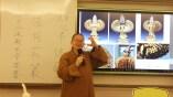 如常法師向同學們介紹各朝代、各國的觀音菩薩造像。