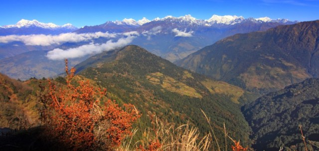 The Village of Nimchola is right beneath the Himalayan Range